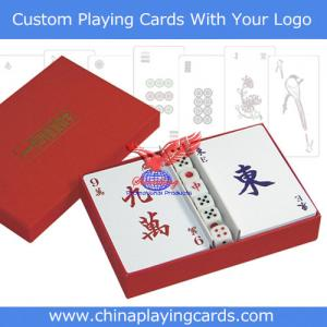 China Mahjong Playing Cards with Dice on sale
