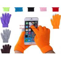 China Soft Cotton Touch Screen Gloves Ladies Women Men Winter Warm Wrist Gloves For Mobile Phone Tablet on sale
