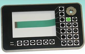 China Waterproof 3m Adhesive PCB Membrane Switch Keypad For Electronic Reading Machine on sale