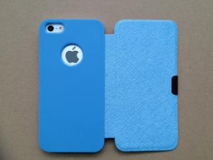China Ultrathin book Iphone Protective Covers , Wallet Shockproof iPhone 5S PU case on sale