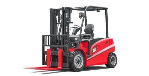 China A Series Four Wheel Electric Forklift Truck 4.0 - 5.0 Ton Red Color For Warehouse / Port on sale