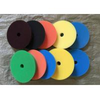180mm Hook Loop Polishing Pad , Sheepskin Buffing Pads For Glass Products