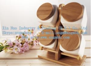 China Ladders cruet, bamboo spice jar care of a family of four, wooden bamboo pepper shakers on sale