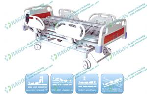 China Turnable bariatric Electric Hospital bed for elderly with Collapsible ABS Guardrails on sale