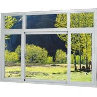 Good quality Brown / Silver Thermal Break Aluminum Frame Windows With Tinted/ Temper Glass