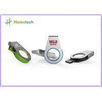 Mini Metal with acrylic swivel USB Mini USB Memory , silver metal pendrive USB 2.0 Memory USB Flash Drive with LED light