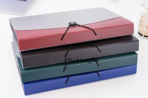 China 12 Pocket File Folders Button Closure Portable Custom Printed File Folders on sale