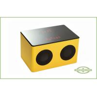 Touch Sensor Portable Wood Speaker, Bluetooth Digital Radio With Rechargeable Battery