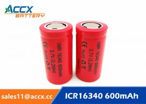 China 16340HP 600mAh 16340 3.7V li-ion battery 10-20C high rate power battery for electric toys, eircraft, on sale