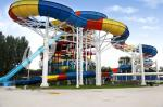 Family Rafting Aqua Park Fiberglass Waterpark Slide 6 Person/time