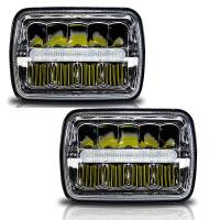 China H / Low Beam Led Car Headlamps With Parking Light , Square Led Headlights For Trucks on sale