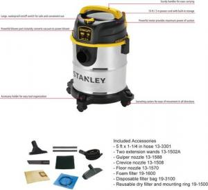 China Wet/Dry VAC SL18143 5gallon/20L 4HP Stainless Steel Plus Stanley industrial vacuum cleaners on sale