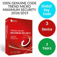 Genuine antivirus digital Key Trend Micro 2019 Maximum Security 3 year 3 device Antivirus software license key only