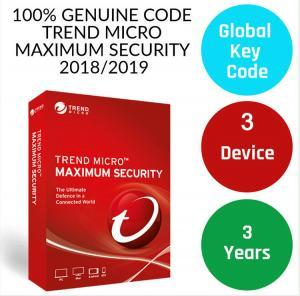China Genuine antivirus digital Key Trend Micro 2019 Maximum Security 3 years 3 devices Antivirus software license key code on sale