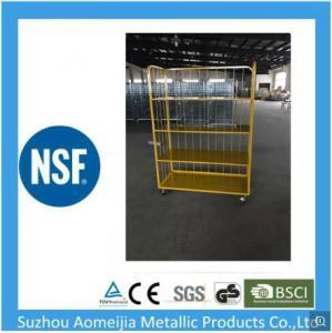 China Supermarket Logistics Trolley 250 Kgs Per Layer PU Nylon Rubber Casters on sale