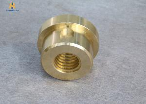 China Manufacturer's Non-Standard Customized Yellow Flange Type Copper Nut on sale