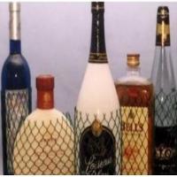 China PE Wine Bottle Net Protective Netting Sleeve , Protective Plastic Mesh Sleeve on sale
