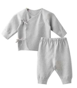 China Summer 100% Cotton Unisex New Baby Clothes Yarn Dye Tshirt Pants Sets on sale