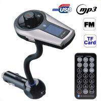 A2DP Bluetooth Handsfree Car Kit FM transmitter Modulator Car mp3 For iPhone iPod Pad Tablet phone call mp3 music