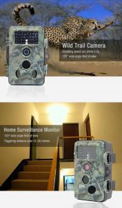 China 2017 Popular New Full 1080P Waterproof Wild Hunting Trail Camera/12mp digital video camera  with 2.4'' TFT-LCD color mon on sale