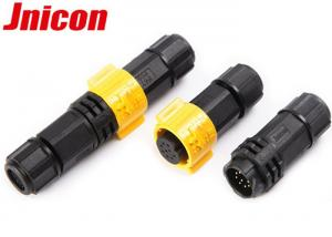 China Waterproof Electric Signal Connector 9 Pin With Male Female Plug IP67 on sale