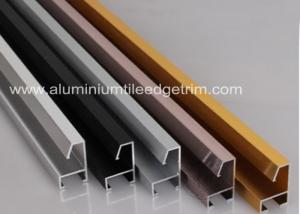 China Customized Aluminium Picture Frame Mouldings Anodized Treatment Solid Structure on sale