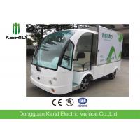 Battery Powered Utility Bus / 2 Front Seats Electric Cargo Vehicle With 1 Ton Payload Closed Container