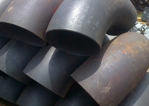 China Fabricated Alloy Welded Steel Pipe Fittings , Chrome Moly 90 Degree Steel Pipe Elbow on sale