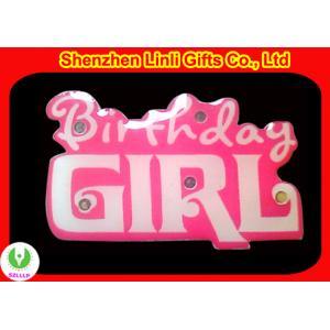 China Hot sell LED flashing lights birthday flashing badges  on sale