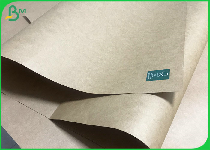 SGS Approved Hard stiffness 90gsm Natural Brown Kraft Liner Paper For Cement Bags