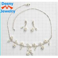 Fashion Diamond Jewelry Crystal Necklace and Earring Set Designs for Gift