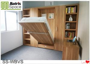 China Simple Luxury Single Murphy Wall Bed , Space Saving Wooden Murphy Bed on sale