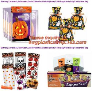 China Easter Wedding Halloween Opp Printing Packing Christmas Candy Bag,Halloween Food Container Pouch Candy Baking Cookies Pa on sale