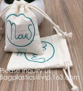 China Drawstring Bags Reusable Muslin Cloth Gift Candy Favor Bag Jewelry Pouches for Wedding DIY Craft Soaps Herbs Tea Spice B on sale