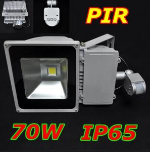 China AL+glass,AC85-265V,IP65 wateproof,6000-6500K,cold white&warm white, 70W PIR led flood light lamp on sale
