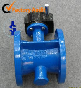 China SS Flanged Metal Seated Butterfly Valve Gear Operator 4  6  , PN10 / PN16 on sale