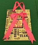 Las bolsas de papel al por mayor del boutique, regalo empaquetan, las bolsas de papel con la manija de seda de la cinta