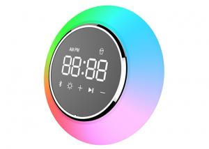 China Waterproof Wireless Bluetooth Alarm Clock With Speaker / USB Charger 4Ω 5W on sale