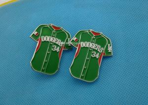 China Green Color Soft Enamel Lapel Pins ,  Iron Trading Pins For Business Promotion on sale