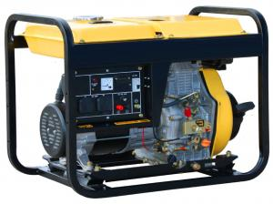 Quality Economical Diesel Powered Portable Generator 6.5kw Single Phase AC TW 8500QX for sale
