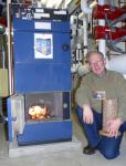 Caldera industrial de la biomasa