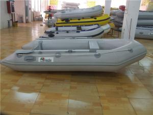 China Durable PVC Inflatable Boat Fishing Raft 3 Person Kaya With Floor Damage Resistance on sale