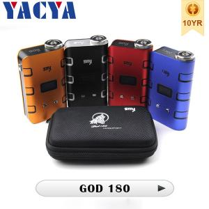 China Authentic 510  Electronic Cigarette SMY God180 Box Mod Huge vapor on sale