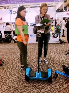 China Mini Standing Self Balance Segway Electric Scooter 19CM Tire With Handle Bar on sale