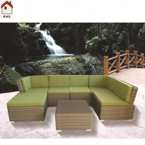 China PE rattan asian style outdoor furniture 6 seats sofa set RMS70011R-N on sale