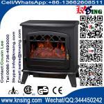 rondin électrique de plastique de radiateur des prix du fourneau ND-181M de cheminée d'appareil de chauffage de rondin de flamme d'antiquité brûlante électrique d'effet meilleur