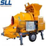 Small Refractory Trailer Concrete Mixer Pump Portable Concrete Pumping Machine