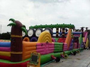 China Multifucaional Giant Inflatable Amusement Park Outdoor PVC Jumping Bouncy Castle on sale