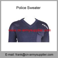 China Wholesale Cheap China Military Wool Acrylic Police Army Navy Blue Sweater on sale