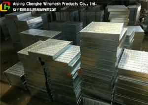 China Sidewalk Steel Flat Bar Grating , Drainage Hot Dip Galvanized Grating on sale